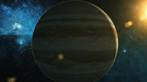 Realistic Planet Jupiter from space Animation