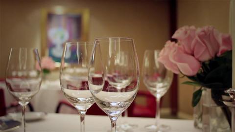Romantic Table Stock Video Footage