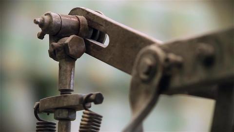 Industrial Gear In Motion Footage