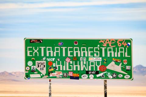 Extraterrestrial Highway sign Foto