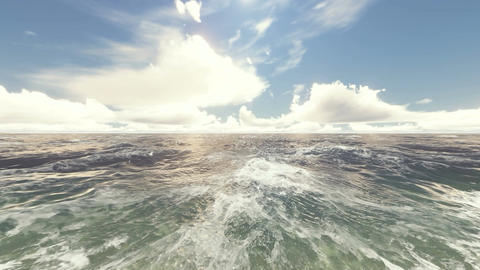 Ocean Waves 4K Background Animación