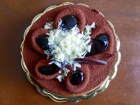 Triple chocolate cake Foto