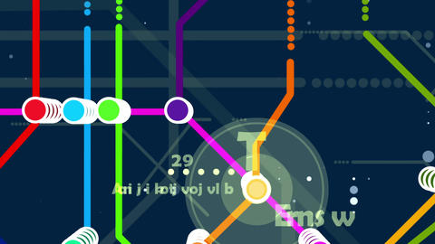 Abstract multicolored metro map animation Animation