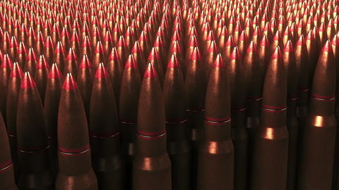 Many bullets. War, ammunition, aggression concepts. 3D rendering Foto