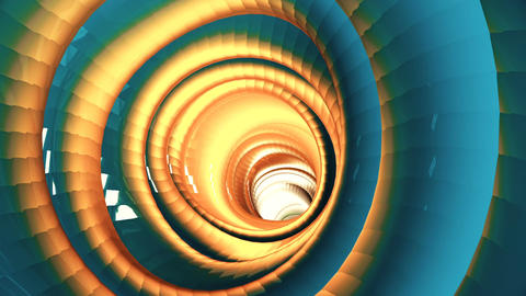 Flight through the shimmering multi-colored tunnel Animation