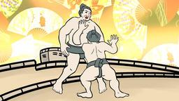Sumo wrestlers remix Animación