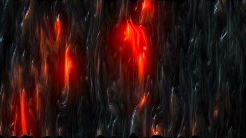 Abstract CGI motion graphics with lava effect Animation