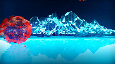 Abstract CGI motion graphics with fantastic planet Animation