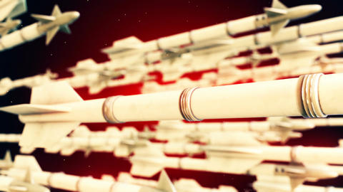 High quality animation of missiles CG動画素材