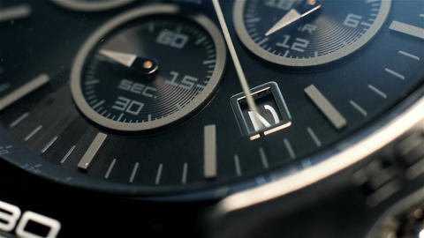 Luxury Chronograph Watch Footage