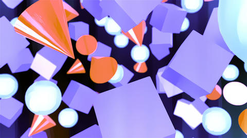 Abstract CGI motion graphics with geometric primitives Animation