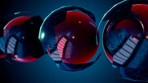 Abstract CGI motion graphics with blue background Animation