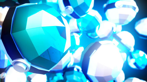 Abstract CGI motion graphics and blue background Animation