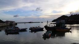 Tai O fishing village Lantau Island Hong Kong at sunset 29 Footage