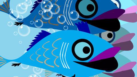 Fishwipe transition Animation