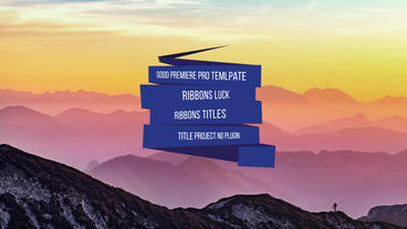 Ribbons tiltes and logos Premiere Proテンプレート