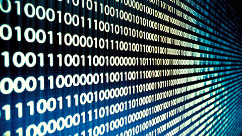 Looping animation of a binary code Animation