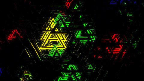 Glow Color 4K 02 Vj Loop Animación