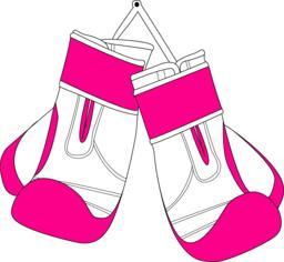 pair of white pink boxing gloves Vektor