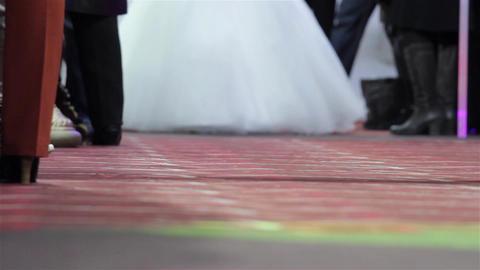 Presentation of wedding dresses at a wedding fair 2 Footage