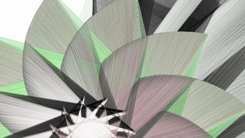 Abstract fractal shapes moving background Animation
