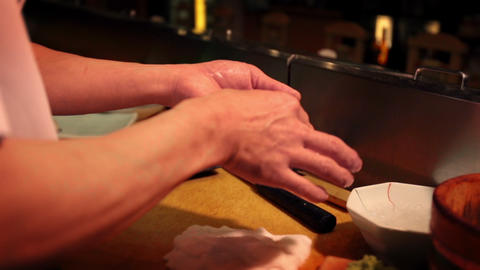 Sushi chef's work ビデオ