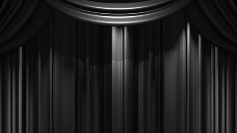 Black Stage Curtain On Black Background Animation