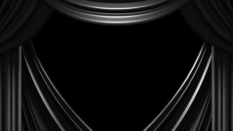 Black Stage Curtain On Black Background Animation