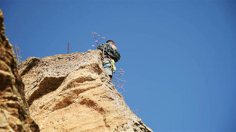 Climber Clears The Rope Archivo