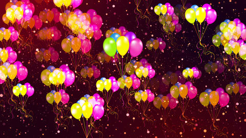 HD Loopable Background with nice flying balloons Animation