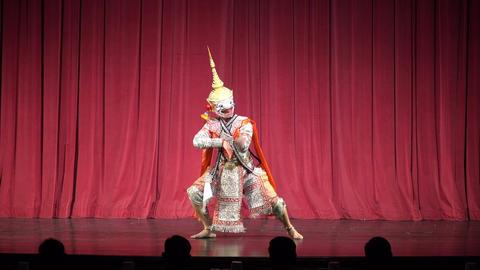 Thai masked dance drama Thai Cultural Show ,hanuman Footage