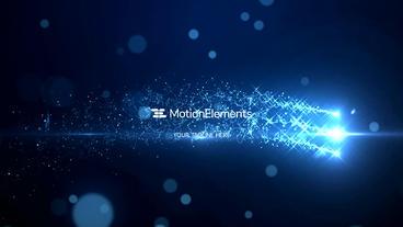 Particles Stars Logo Plantilla de After Effects