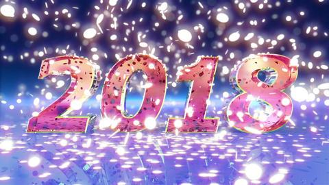 New Year 2018 Animation Animation