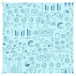 Social Media Blue Seamless Pattern Vector