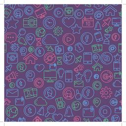 Social Media Colorful Seamless Pattern Vector
