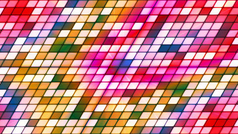 Broadcast Twinkling Slant Hi-Tech Cubes, Multi Color, Abstract, Loopable, 4K Animation
