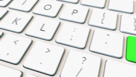 Computer keyboard and green hack key Footage