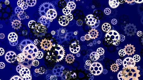 Abstract Loopable Background with nice falling gears Animation