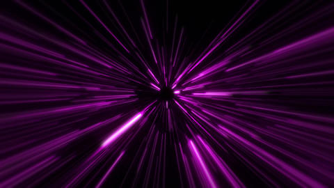 Flight inside a Fuchsia StarsField Tunnel at The Speed of Light Loopable Animación