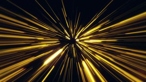 Flight inside a Gold StarsField Tunnel at The Speed of Light Loopable Animación