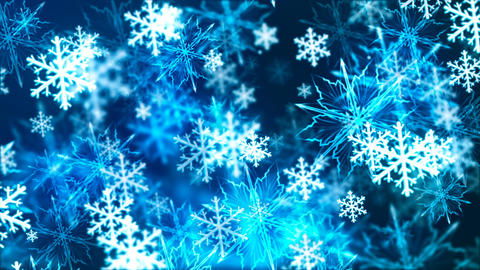 Abstract loopable background with nice falling snowflakes Animation