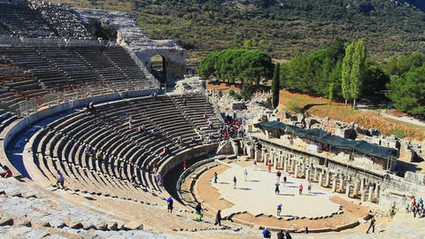 View of Amphitheater at Ephesus Filmmaterial