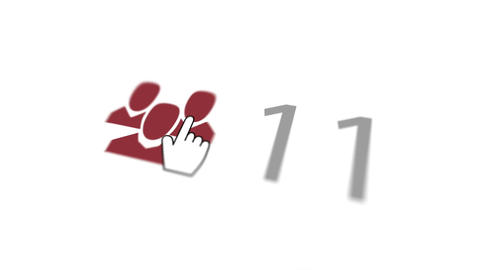 White hand seeking staff 10,000 times Animation