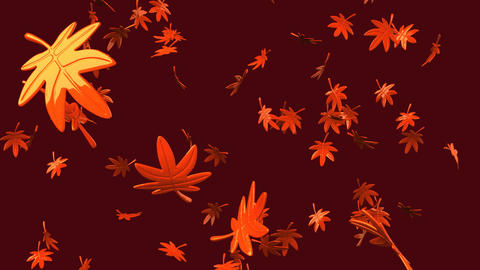 Loop able Fallen Leaves On Brown Background Animation