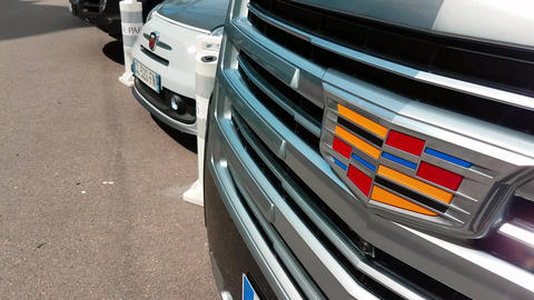 Cadillac Grille and Logo Archivo