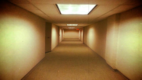 Scary Horror Corridor, Abstract Background Animation