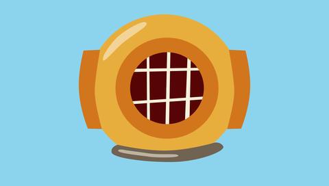 Divers helmet Animation