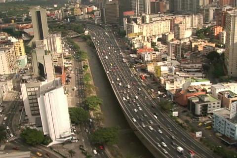 City Aerial view Filmmaterial