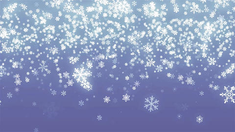 Silver abstract glitter snowflakes for Christmas animated blue background Animation