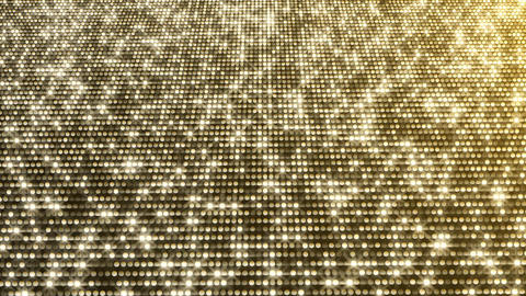 Gold Particles. Glamour Rain. Abstraction, background with sparkling sparks, Animation